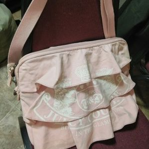 🆕 Juicy Couture Ruffled Laptop Messenger Bag Pink